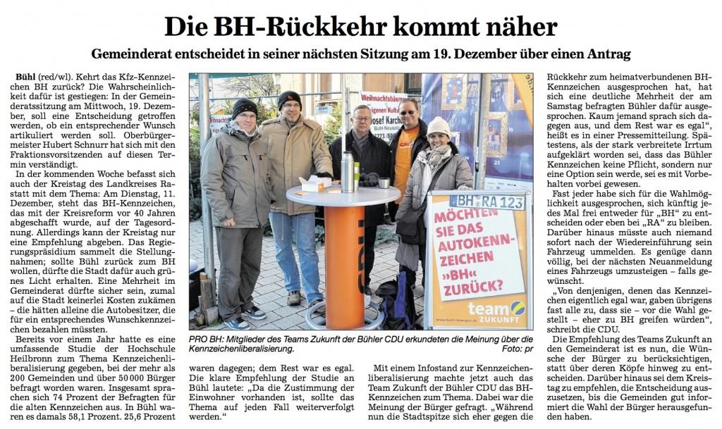 "ABB, 04.12.2012: ""Die BH-Rückkehr kommt näher"""