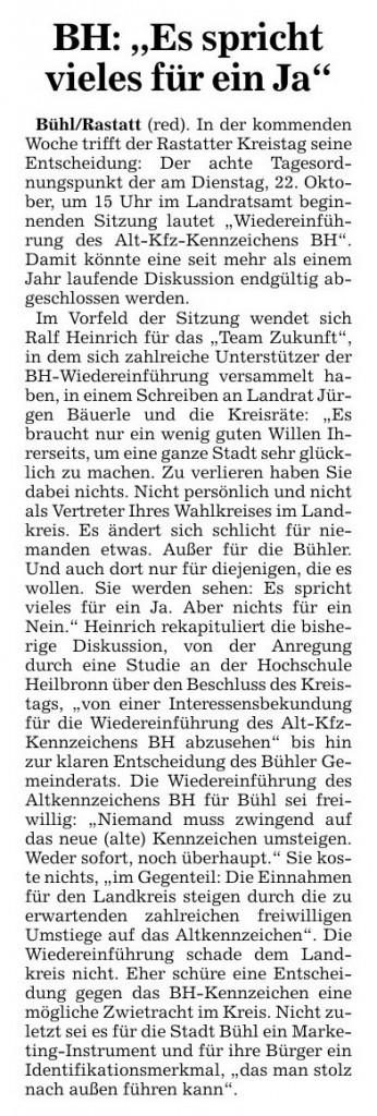 """Acher- und Bühler Bote, 18.10.2013: """"BH: 'Es spricht vieles für ein Ja'"""""""