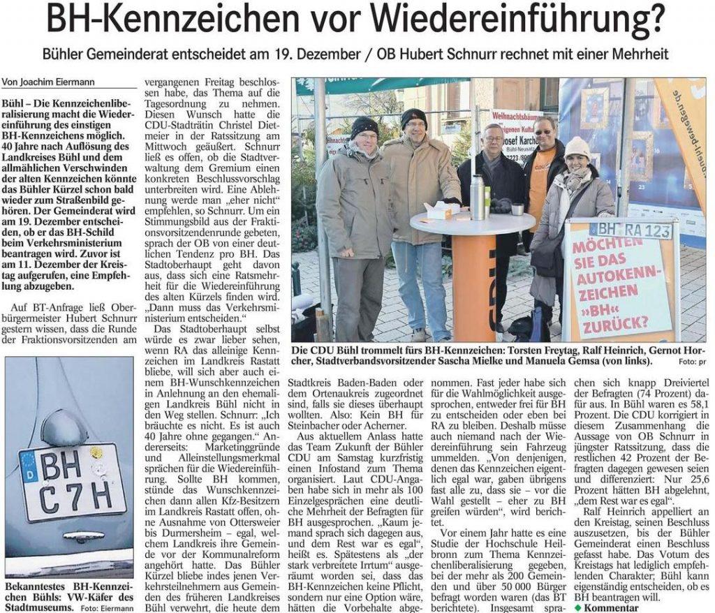 Badisches Tagblatt, 04.12.2012