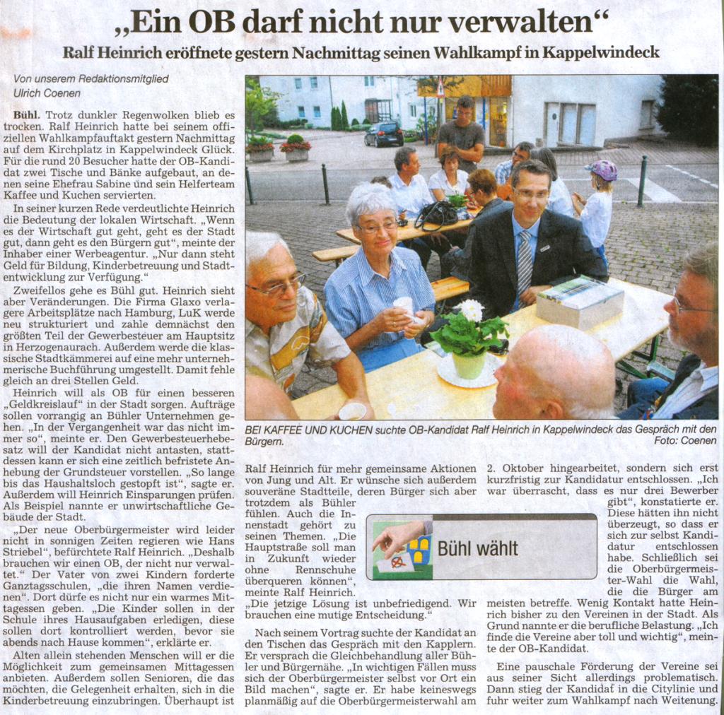 """ABB, 14.09.2011: """"Ein OB darf nicht nur verwalten"""""""