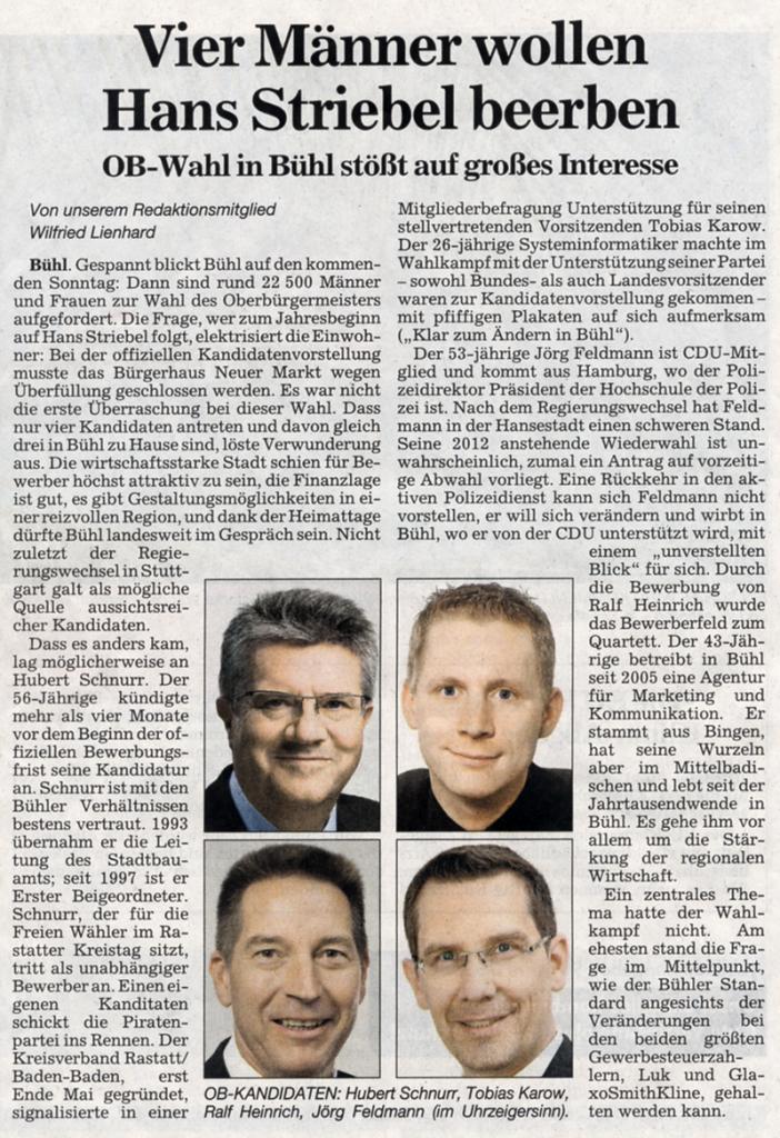 """ABB, 27.09.2011: """"Vier Männer wollen Hans Striebel beerben"""""""