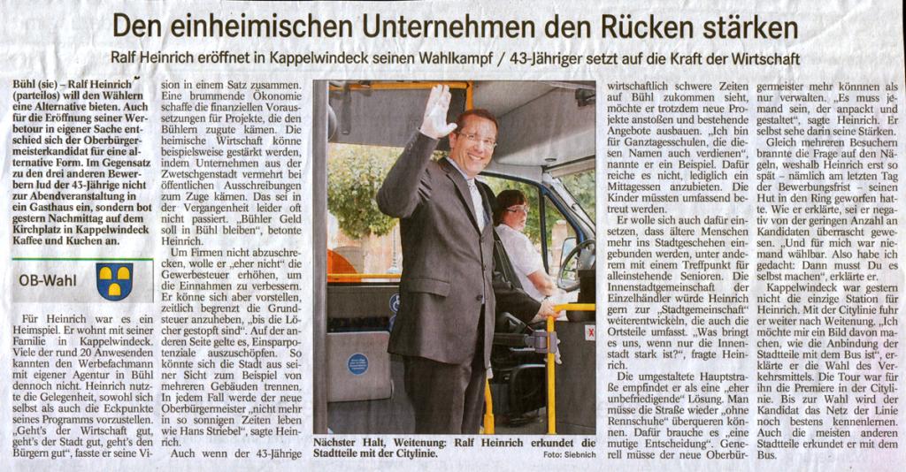 """BT, 14.09.2011: """"Den einheimischen Unternehmen den Rücken stärken"""""""