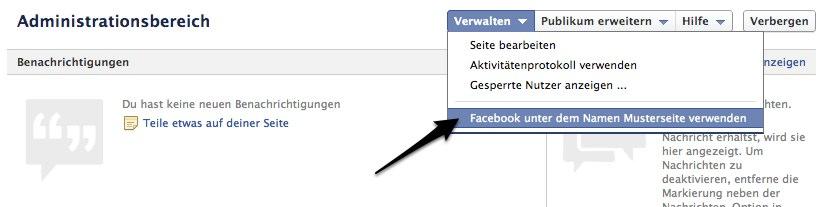 facebook seite empfehlen