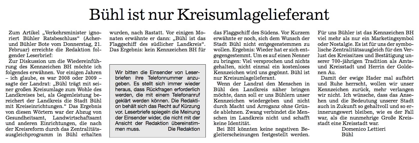 Acher- und Bühler Bote, 23.02.2013