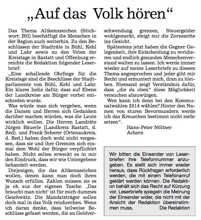 Acher- und Bühler Bote, 29.04.2013