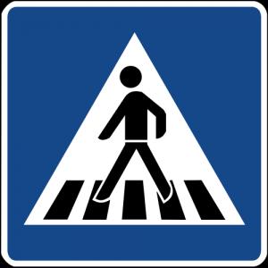 Schild Fußgängerüberweg